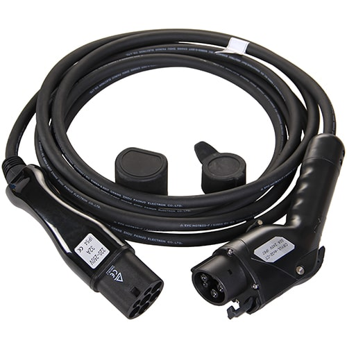 1-EV Type2 -> Type1 (32A) Elektroauto Ladekabel
