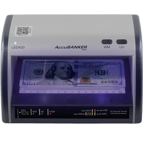 1-AccuBANKER LED420 Geldscheinprüfer